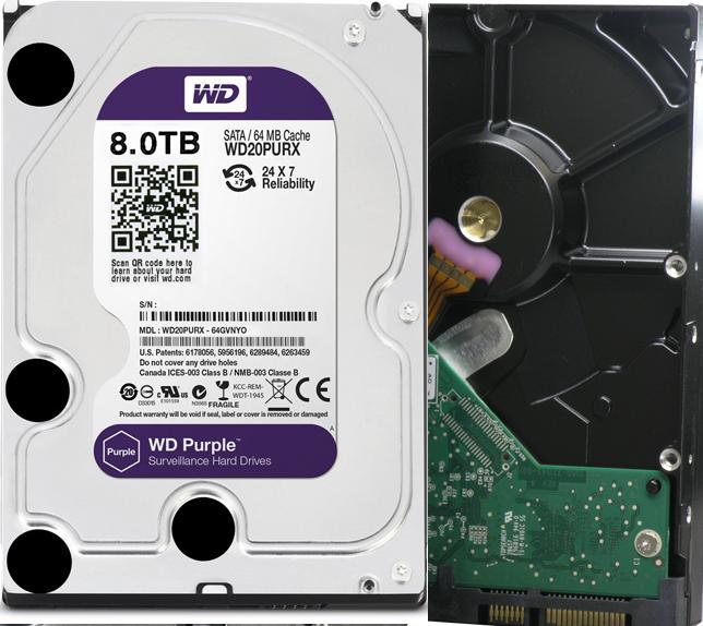 8TB Western Digital Purple Hard Drive