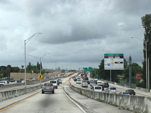 Miami has many CCTV Systems dedicated to monitoring traffic patterns and congestion