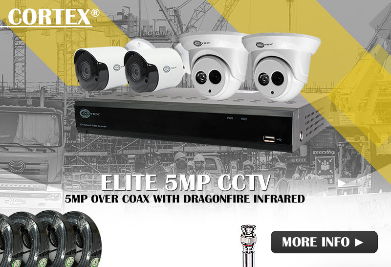Cortex®  Wide angle models with DragonFire IRCoax 5MP CCTV Super Hybrid DVRs with extra IP channels