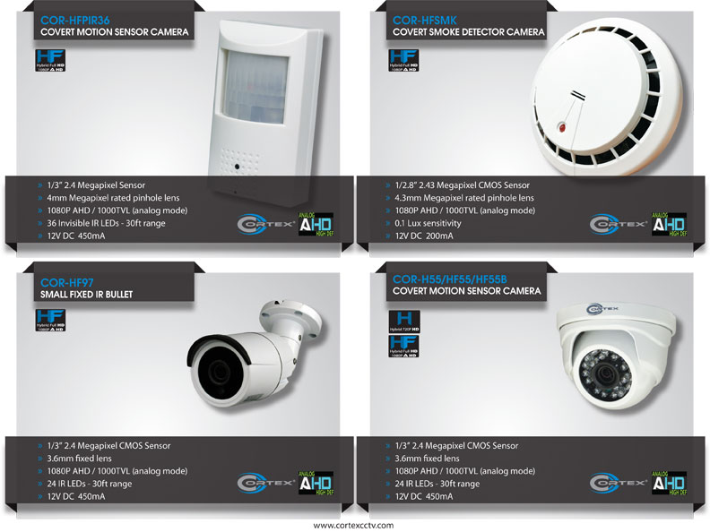 Cortex® AHD (Analog High Definition) surveillance cameras