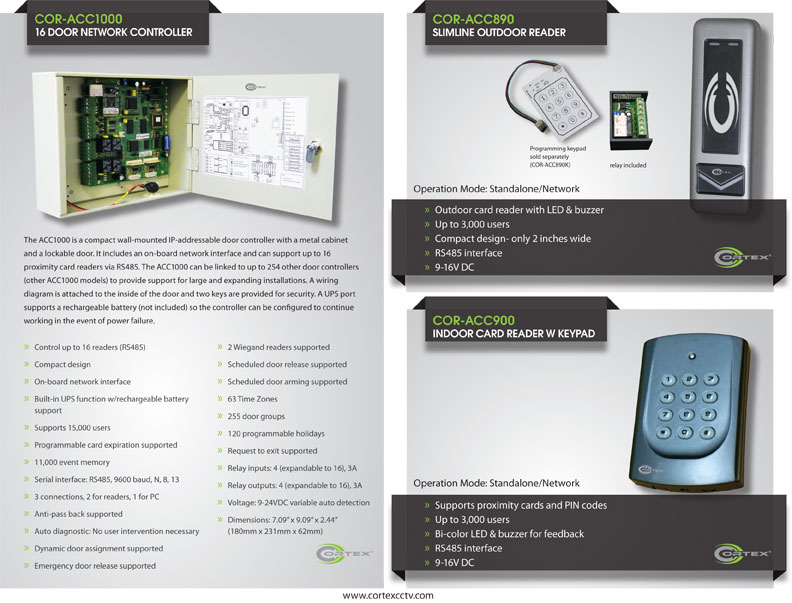 Cortex® access control panels and readers