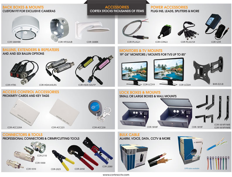 Cortex® cctv security Accessories
