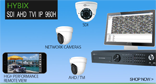 Cortex® SDI (Serial Digital Interface) hybrid 4 in one security DVR/NVRs