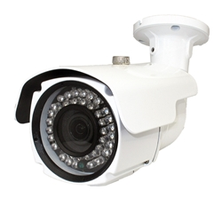 Front view 1080p hybrid 4 way Outdoor Bullet Camera with Metal (Aluminum) housing and 3.6-10mm lens