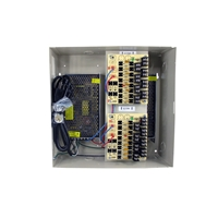 16 channel heavy duty DC UL listed heavy duty  wall mount power supply COR-PS16DCH is housed in a metal cabinet. It has sixteen individually fused outputs in metal case