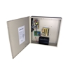 4-Channel 12vDC 4amp  UL listed wall mount power supply COR-PS4DCB with Battery backup is housed in a metal cabinet. It has four individually fused outputs and a status LED