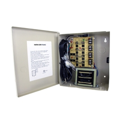 4-Channel 24vAC 4amp Power Supply the COR-PS4AC AC Power Supply UL listed wall mount power supply It has four individually fused outputs housed in a metal cabinet.