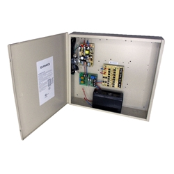 4-Channel 12vDC 4amp Power Supply w/ Battery Backup power supply boxes,battery, camera power boxes, cctv power distribution boxes, security camera power boxes, surveillance power supply boxes,led indicator, 110/120VAC, 12/24VCD,ul listed