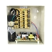 Security surveillance UL listed wall mount power supply COR-PS4DC is housed in a metal cabinet. It has four individually fused outputs and a status LED