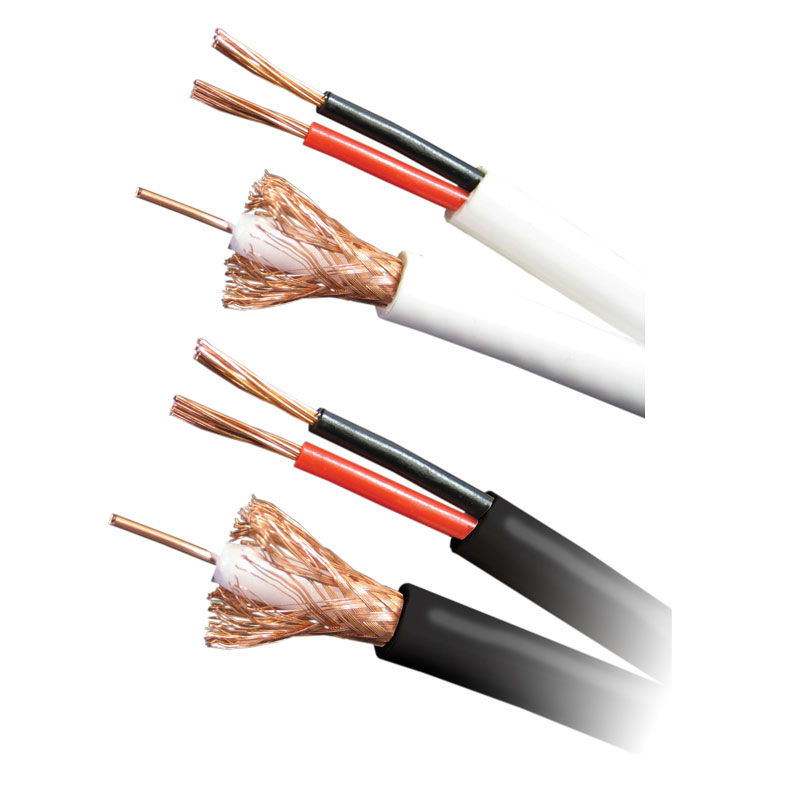 8 Unit of 150 Feet WHITE BNC Video DC Power Siamese Cables for CCTV Surveillance