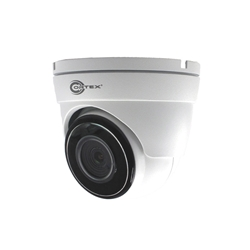 Three quarter view Front view Medallion 8MP IP white model camera Outdoor IR Turret Dome Network Camera with 2160p UHD resolution