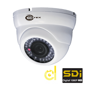 Fix Focus SDI Dome Security Camera with Wide Dynamic Range