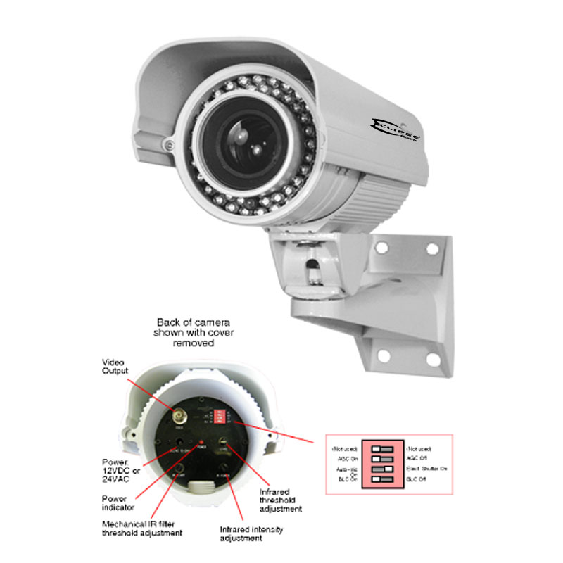 HI-SPEED License Plate Capture Camera Infrared Sony CCD 700 TVL 5-50mm Outdoor
