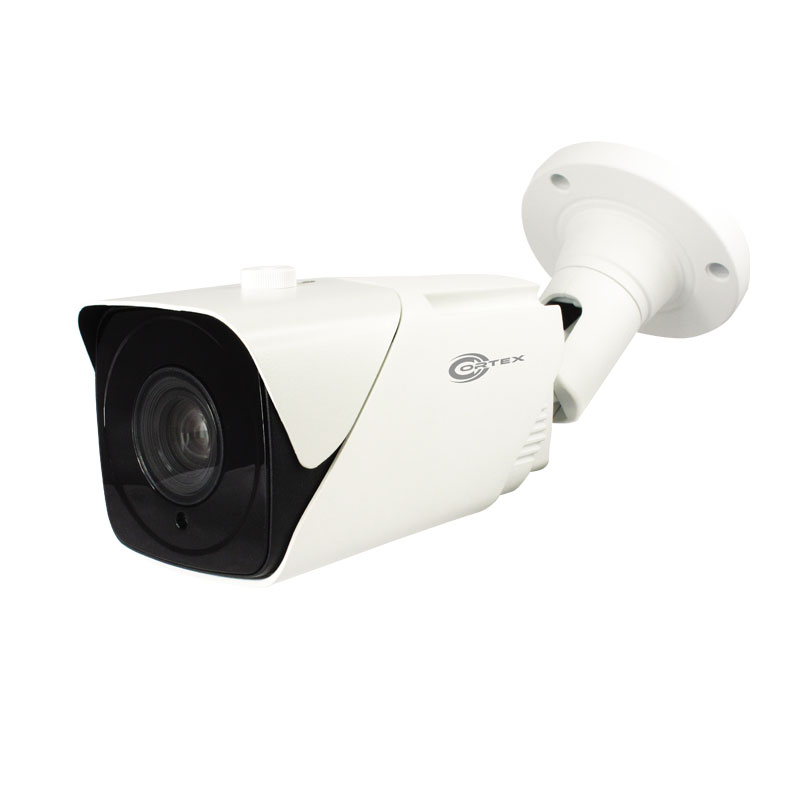 COR-IP550LR 5MP Cortex Medallion IP Bullet Network Camera with Triple Stream,WDR, alarm trigger and  .5-50mm Motorized Zoom auto focus