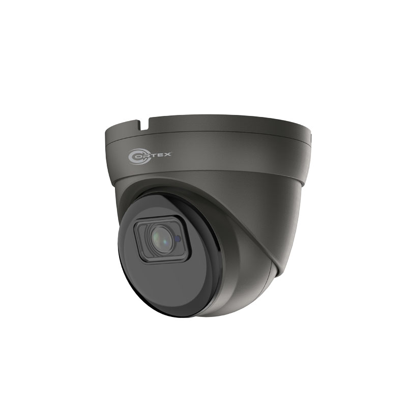 Medallion 8MP IP gray model camera Outdoor IR Turret Dome Network Camera with 2160p UHD resolution