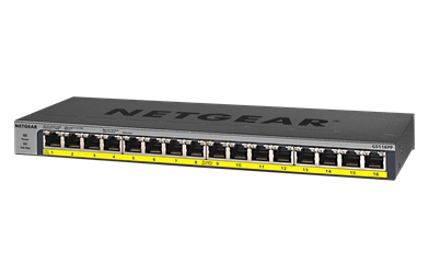 NetGear 16 Port Gigabit Ethernet Unmanaged Switch with 16-Port PoE / PoE+ POE, 16 port switch, 16 PoE 4k NVR, ip recorder switch