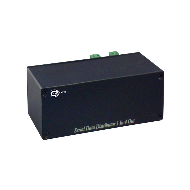 COR-RSD4 RS485 Serial Data Distributor for PTZ and Access with 4  Signal Outputs and 2 x Inputs from Cortex®