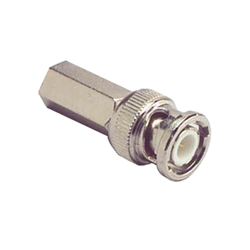 Twist-on male BNC connector for RG-59, 62 RG-59, 62, cable connectors, , video, audio, BNC connectors, BNC ,Twist-on male, splice