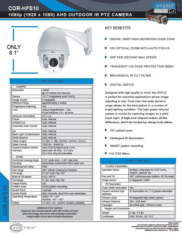 Portable Corrosion Resistant High Definition Megapixel SDI PTZ
