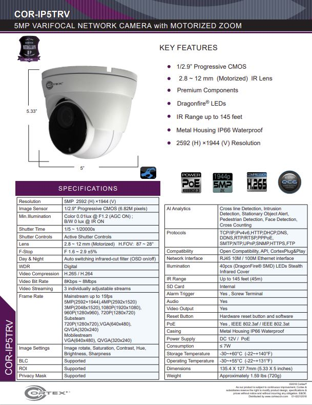 Medallion network camera,5MP Medallion network camera with 1920(H)×1080(V) resolution, this Medallion IP Turret Security Camera has with 2.8-12mm (Motorized Zoom)